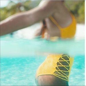Billabong Swim - Billabong Golden yellow one piece swim suit- M